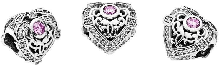 Шарм Pandora копия Opulent Heart Charm